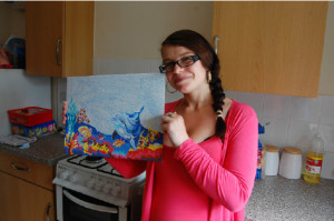 Painting by numbers and support from the NHS – one mum's key to successful quitting!