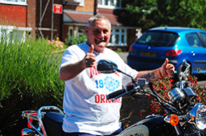 Roy quits his 90-a-day habit and buys himself a motorbike!