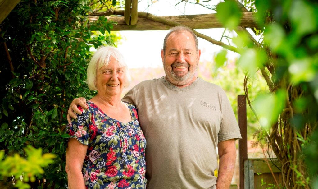Peter Braby and wife Anita