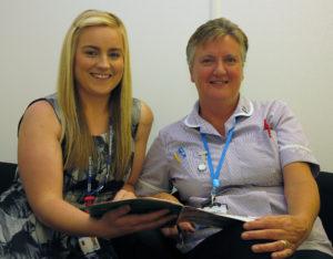 Rebecca Pullen with HCA Karen Fraser