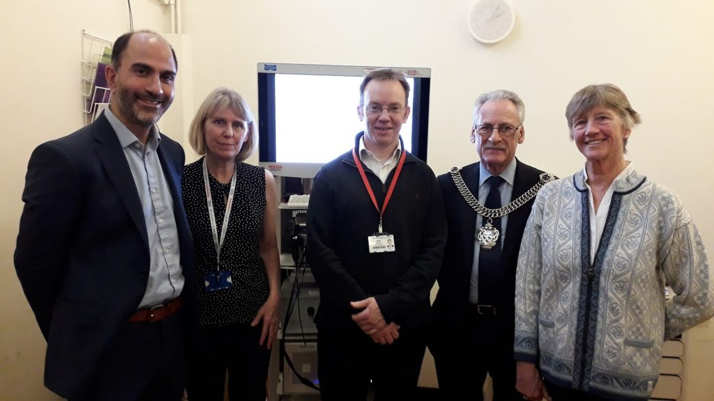 Colleagues at opening of stroboscope