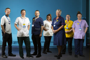 Staff at Whistable and Tankerton Hospital