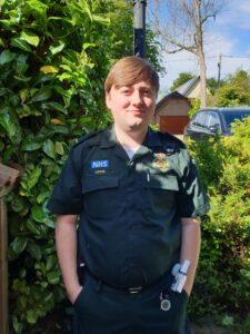 Lewis Samways Head paramedic