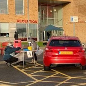 Drive-through immunisation event for Kent teenagers
